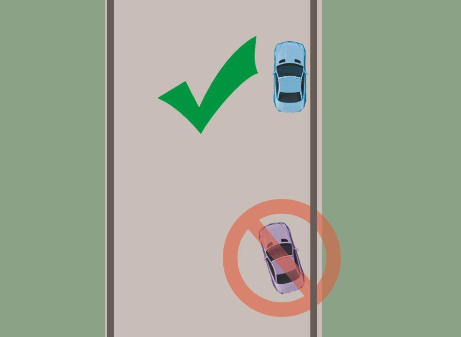 Правильно запаркованное авто